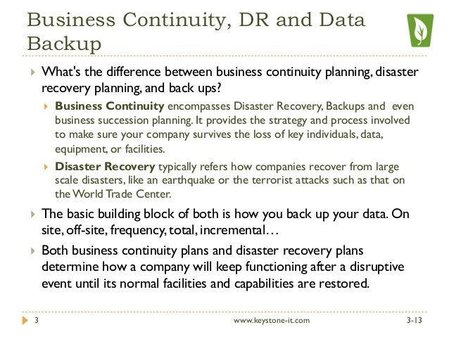 Disaster recovery plan vs business continuity plan