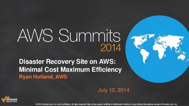 Disaster Recovery Sites on AWS: Minimal Cost, Maximum Efficiency