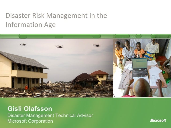 Disaster Risk Management In The Information Age Gislio