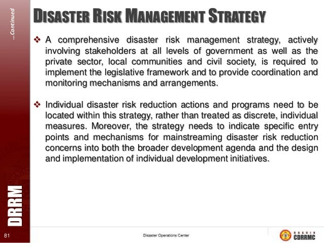 local disaster risk reduction management