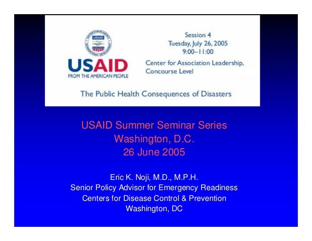 Disasters and Complex Humanitarian Emergencies: Challenges for Public Health Action