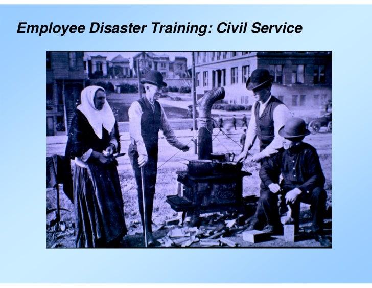Employee Disaster Training: Civil Service