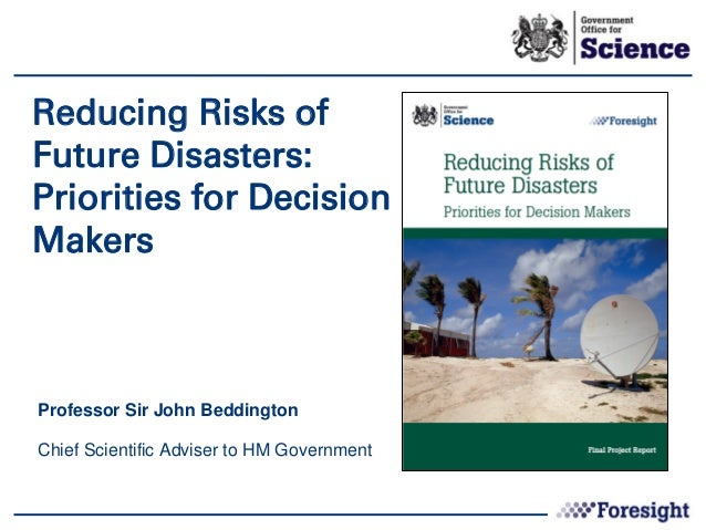 Reducing Risk of Disasters launch presentation