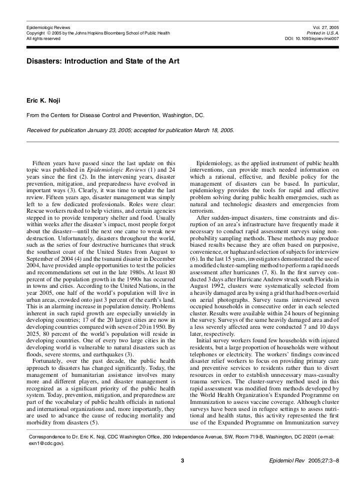 Epidemiologic Reviews                                                                                                     ...