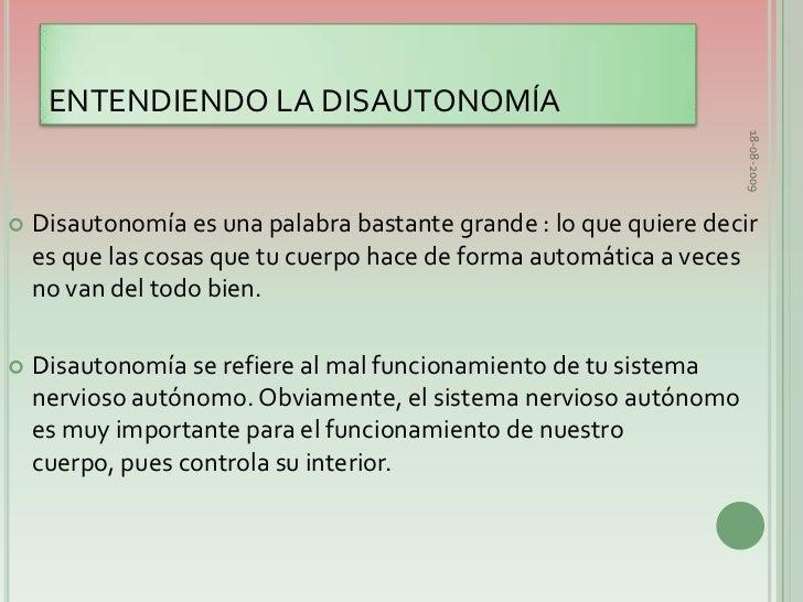 Resultado de imagen para disautonomia