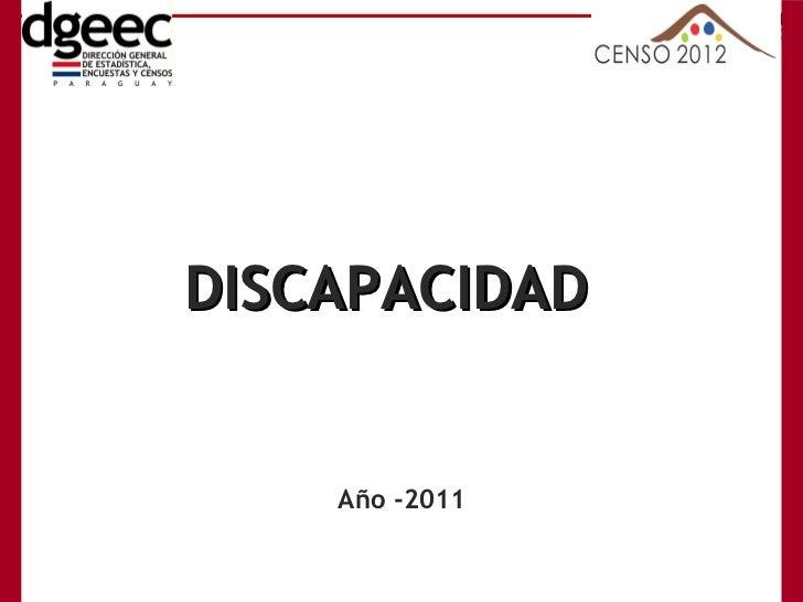Año -2011 DISCAPACIDAD