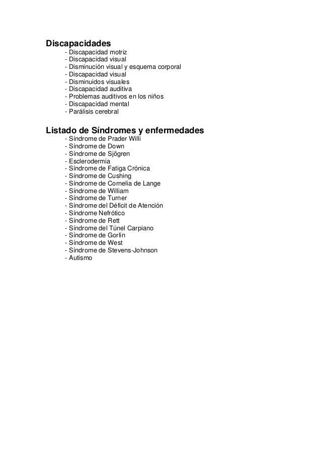 Discapacidades sindromes