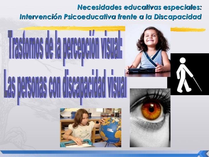 Necesidades educativas especiales:Intervención Psicoeducativa frente a la Discapacidad