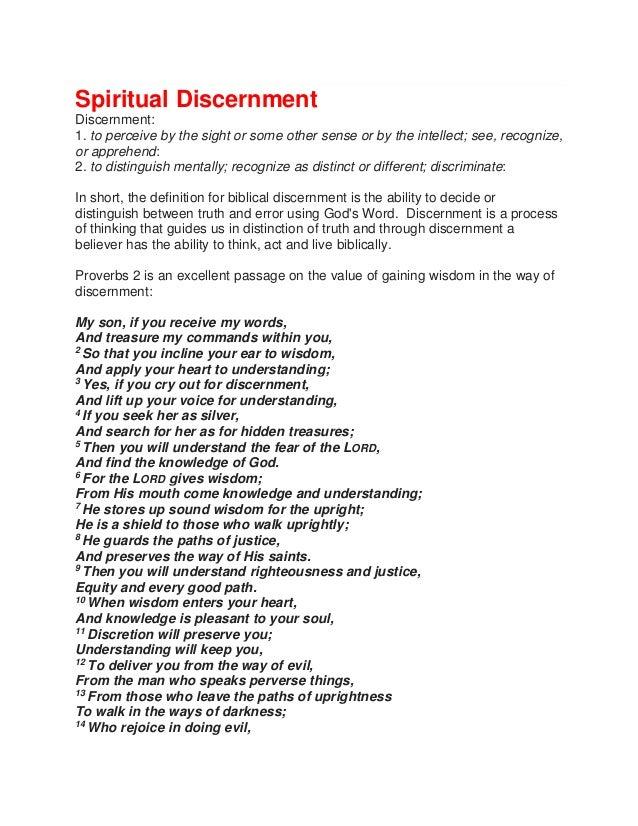 Biblical Discernment