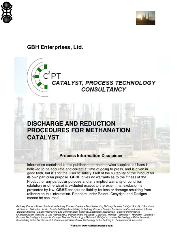Discharge and Reduction Procedures for Methanation Catalyst