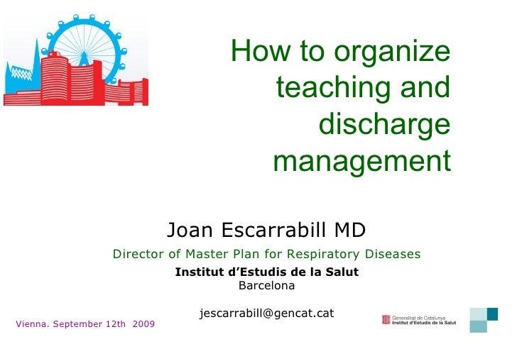 Discharge Management (Vienna 09)