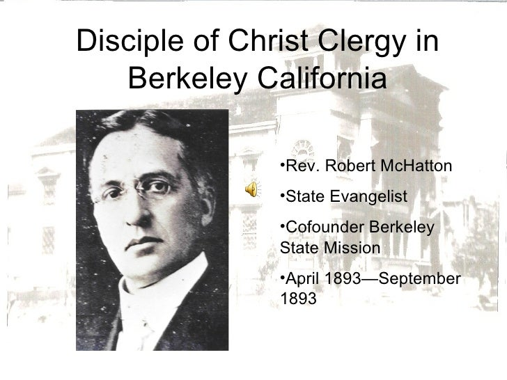 Disciple of Christ Clergy in Berkeley California