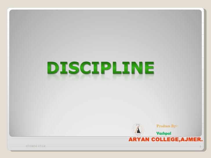 Disciplin