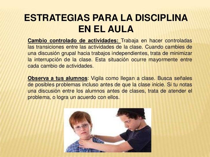 Disciplina en el aula for Actividades para el salon de clases