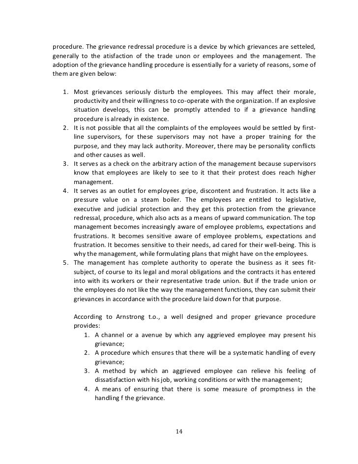 employee procedures essay It is necessary for the statement in this section to be published as part of the procedure as it relates to the employee's right to be represented or accompanied it is wise to specify and limit who can accompany (if not, parents, solicitors etc could get involved at this stage)  we will write a custom essay sample on grievance procedure.