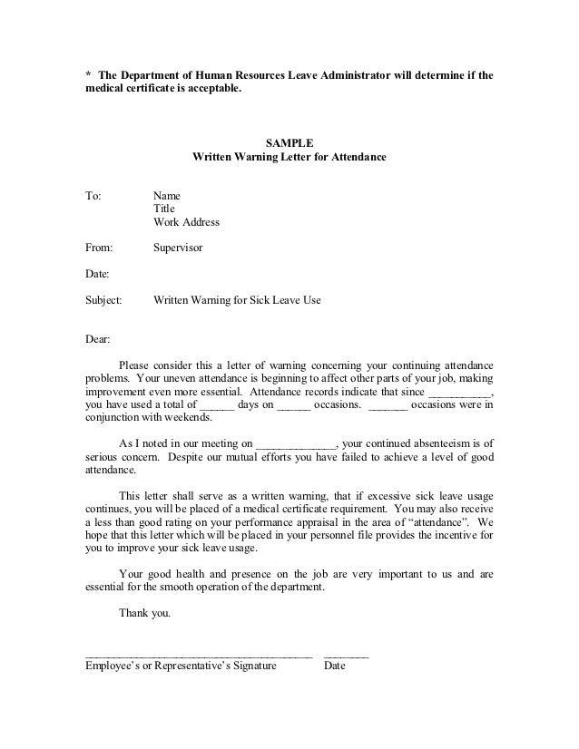 sick leave letter sample Success