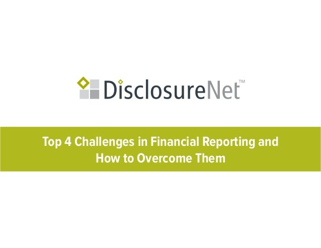 Top 4 Challenges in Financial Reporting andHow to Overcome Them