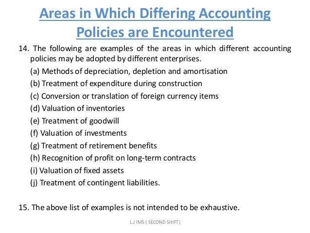 appropriate accounting policies and disclosures in As 1 - disclosure of accounting policies disclosure of significant accounting policies followed the choice of the appropriate accounting principles and.