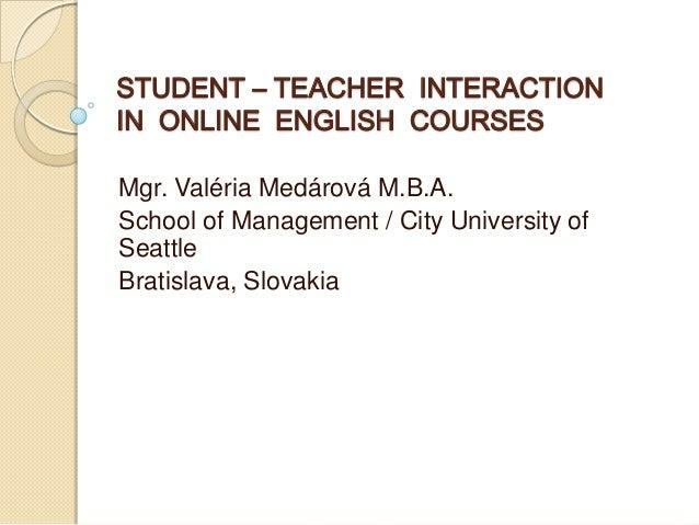 DisCo 2013: Valeria Medarova -  Student Teacher Interaction in Online Learning