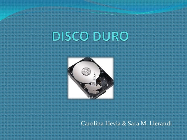 DISCO DURO Carolina Hevia & Sara M. Llerandi