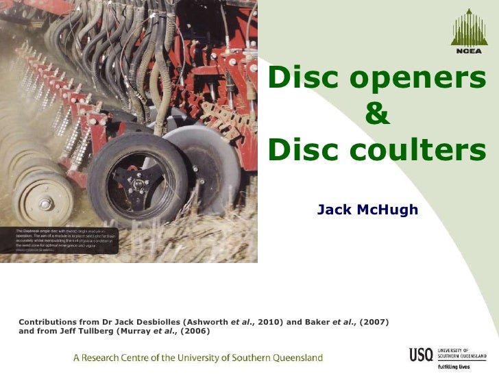 Disc seeding in conservation agriculture