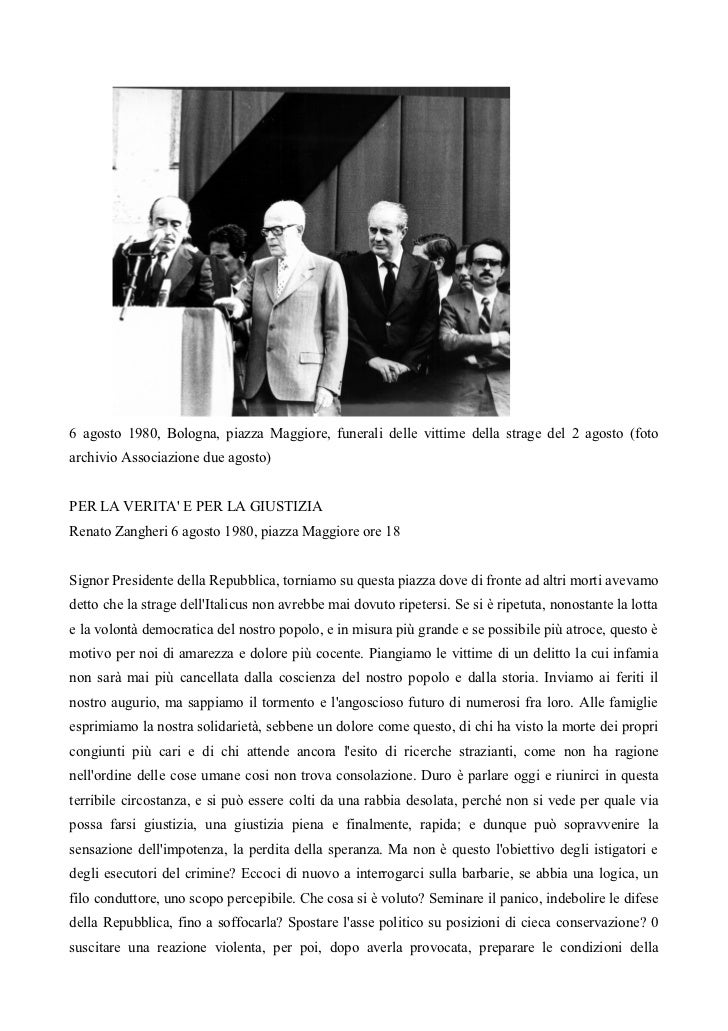 6 agosto 1980, Bologna, piazza Maggiore, funerali delle vittime della strage del 2 agosto (fotoarchivio Associazione due a...