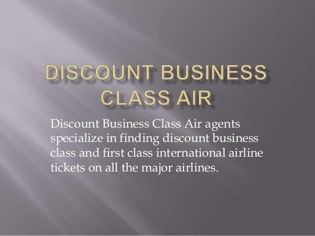 Discount business class air