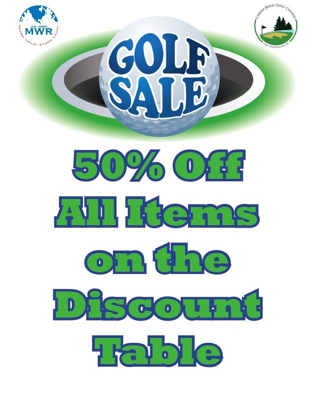 50% Off All Items on the Discount Table