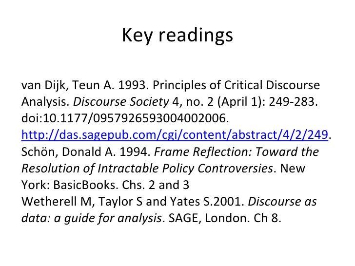 Ma thesis critical discourse analysis