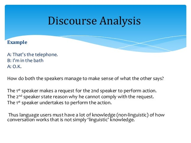 discourse analysis linguistics of texts and Introduction applied linguistics (al) interest in discourse analysis (da) originated in an awareness of the inability of formal linguistics to account for how participants in communication achieve meaning.