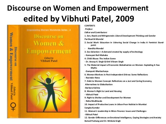 Discourse on Women and Empowerment edited by vibhuti patel