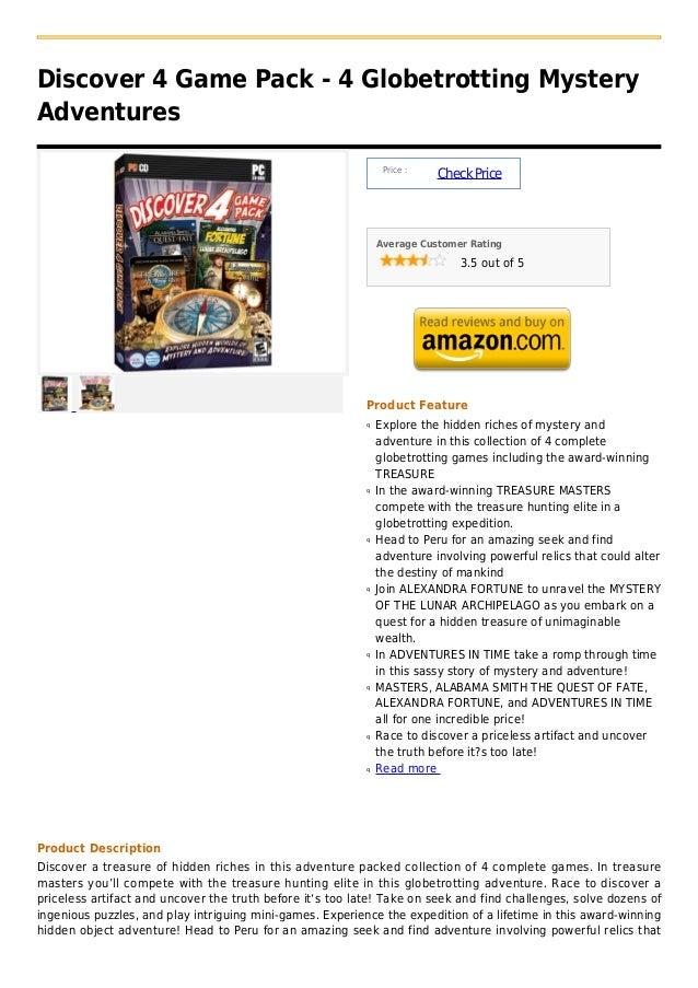 Discover 4 Game Pack - 4 Globetrotting MysteryAdventures                                                                Pr...