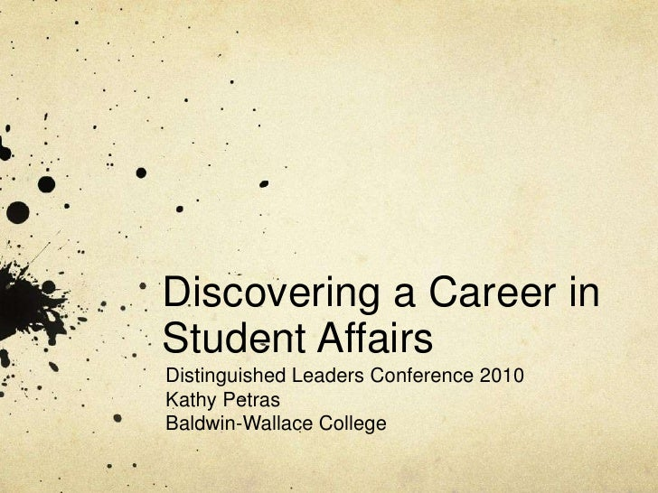 Discovering A Career In Student Affairs