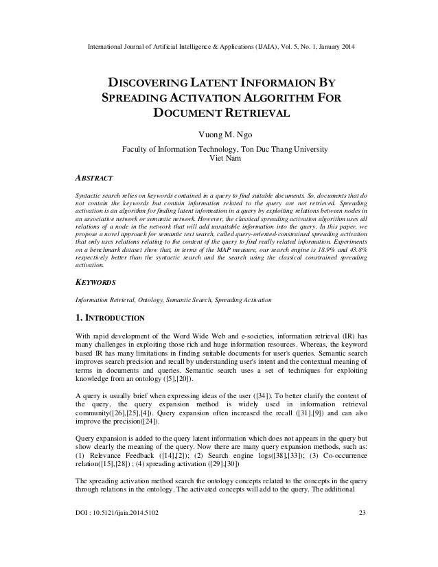 Discovering latent informaion by