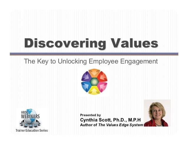 The Key to Unlocking Employee Engagement                Presented by                Cynthia Scott, Ph.D., M.P.H           ...