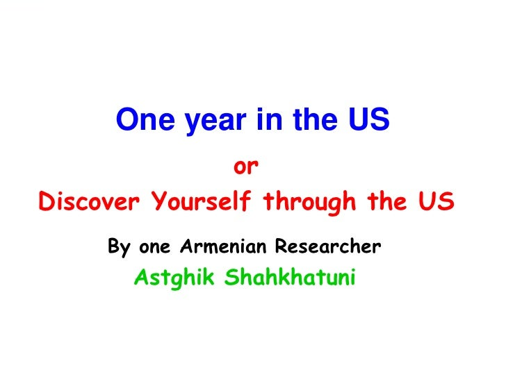 Discover yourself through the US