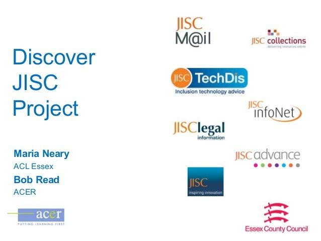 Jisc RSC Eastern E Learning forum Oct 2013 - Discover jisc presentation