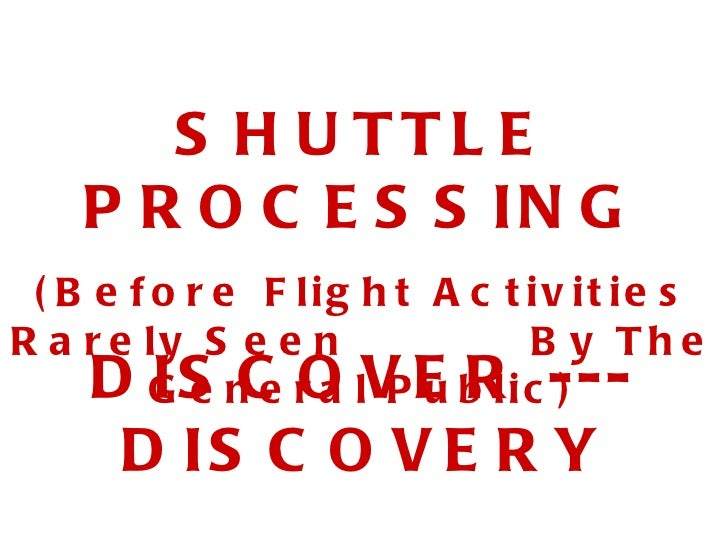 Shuttle Discovery Prep