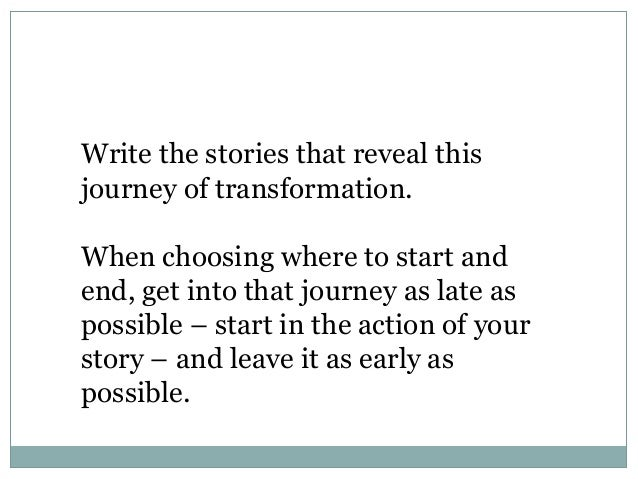 How to write a story based on your life