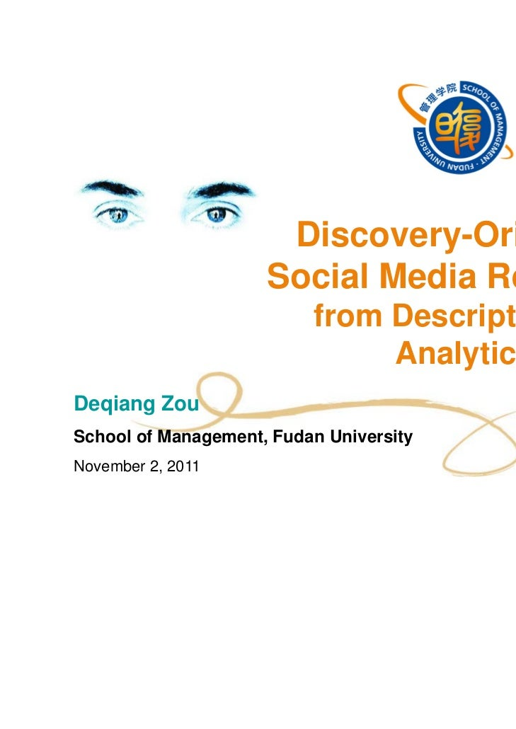 Discovery-Oriented                     Social Media Research:                          from Descriptive to                ...
