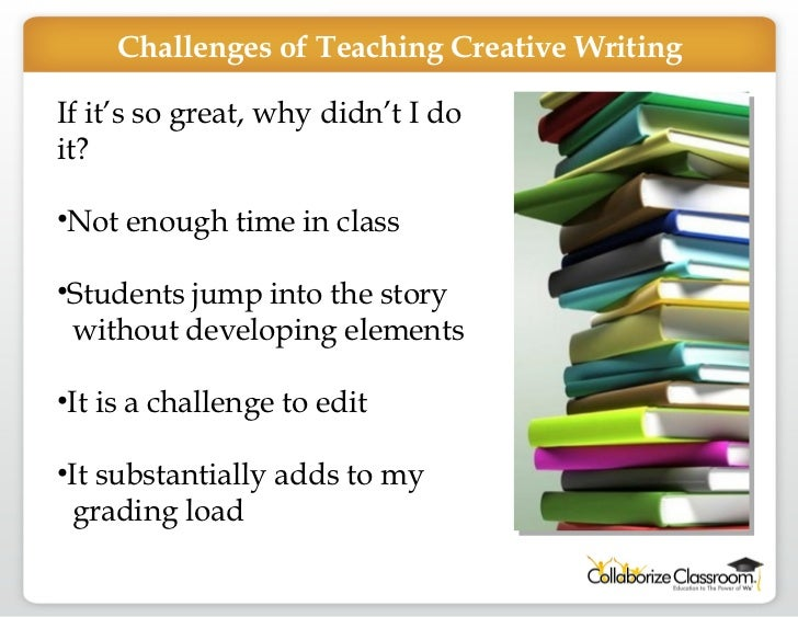 books about teaching creative writing Find a book of quick writing exercises and use those as a springboard for a few of your own these are great ways to revive a class and to help your students apply what you are teaching them part of the problem with a creative writing class is the diverse group of people who sign up.