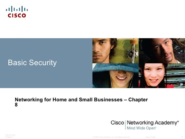 Basic Security Networking for Home and Small Businesses – Chapter 8