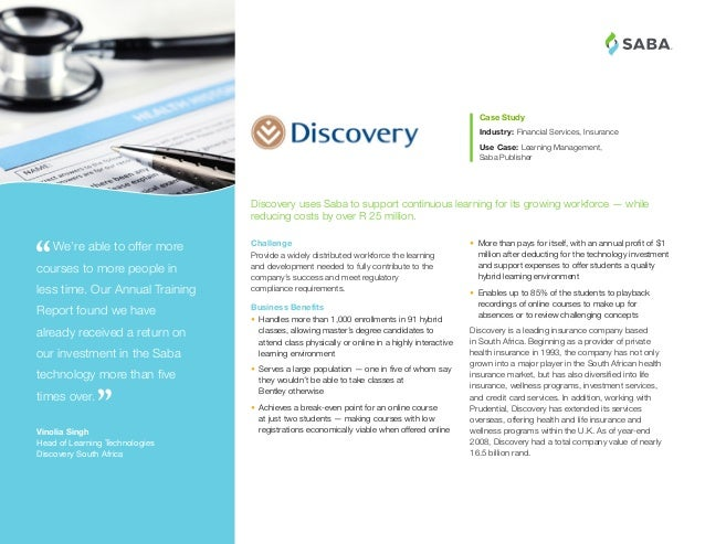 Discovery Insurance Automates the Management and Reporting of Workforce Learning