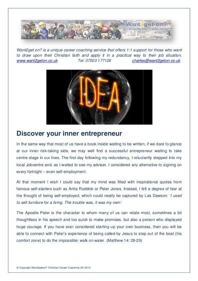 Discover your inner entrepreneur