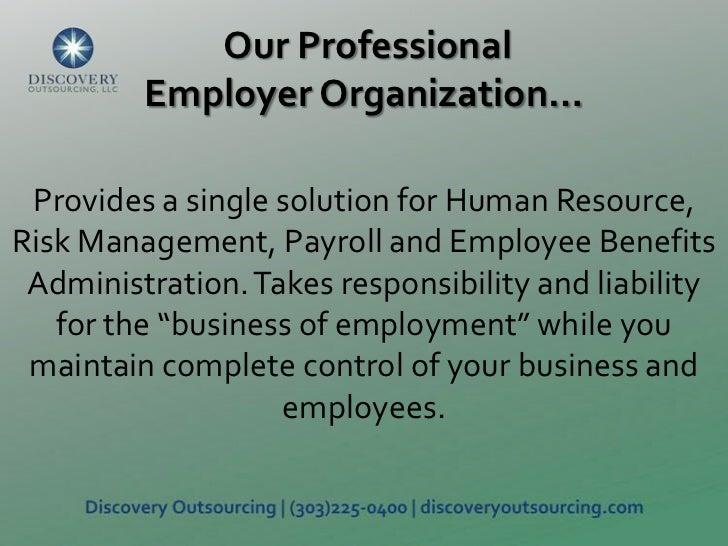 Professional Employer Organization Overview