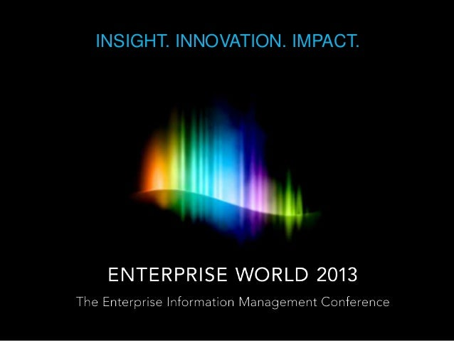 Why Attend OpenText Enterprise World?  One Word - Discovery