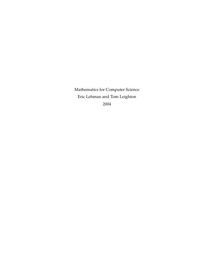 discrete mathematical structures with applications to computer science pdf