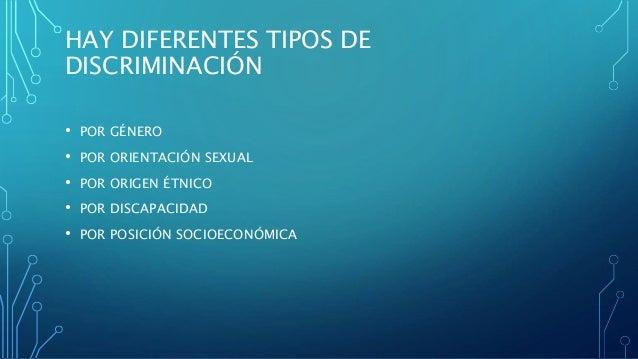 Diferentes tipos de discriminaci n for Diferentes tipos de viveros