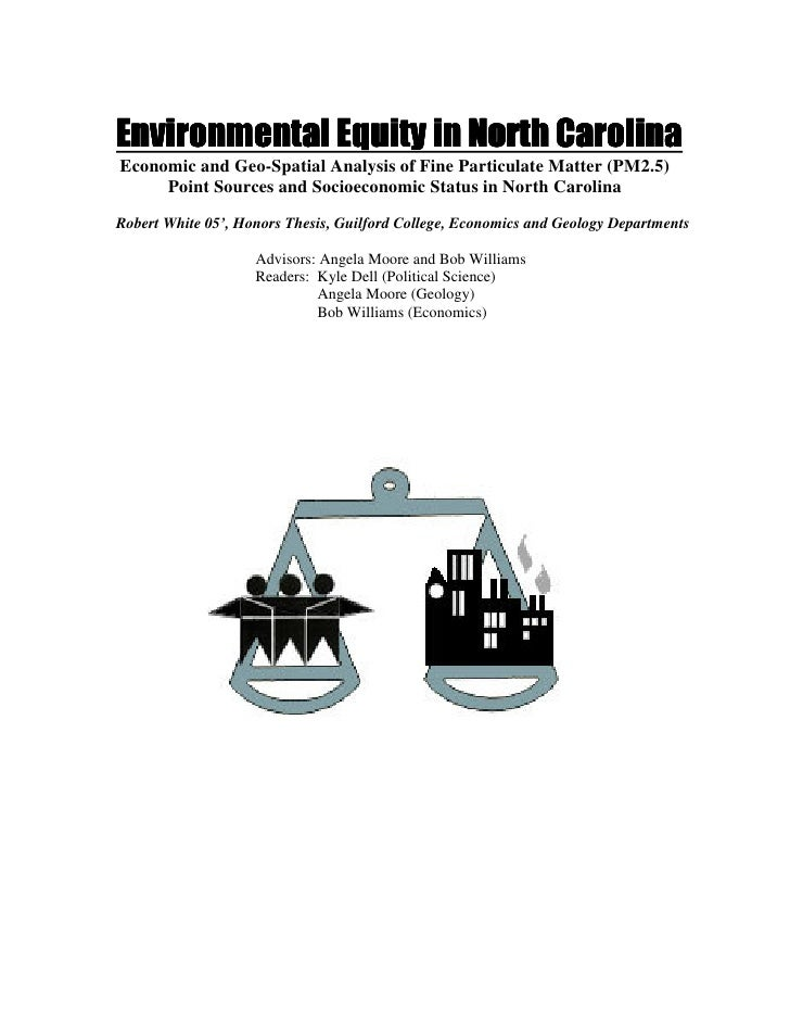 Environmental Equity in North Carolina Economic and Geo-Spatial Analysis of Fine Particulate Matter (PM2.5)      Point Sou...