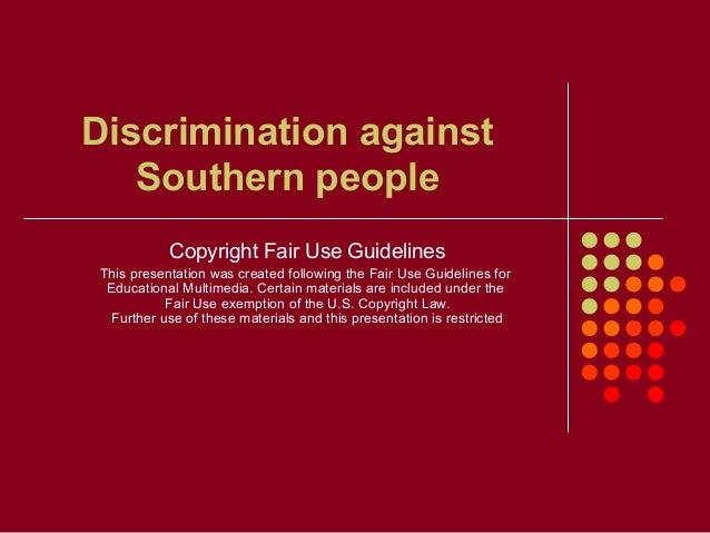 topics anti discrimination